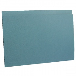 Guildhall Blue Square Cut Heavy Weight Folder Foolscap (Pack of 100) 44203