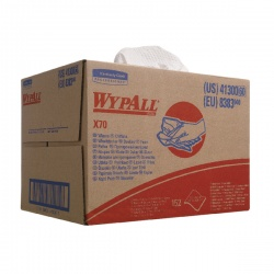 Wypall X70 Wipers Box 1-Ply White (Pack of 150) 8383