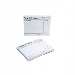 Q-Connect White Petty Cash Voucher Pad 125 x 101mm (Pack of 10) KF00103
