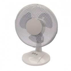 Q-Connect 2-Speed Desktop Fan 230mm/9 Inch