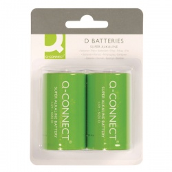 Q-Connect Battery D (Pack of 2) KF00491