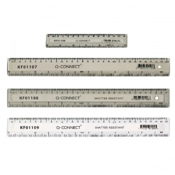 Q-Connect Clear 150mm/15cm/6inch Ruler