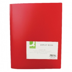 Q-Connect Display Book 40 Pocket Red KF01258