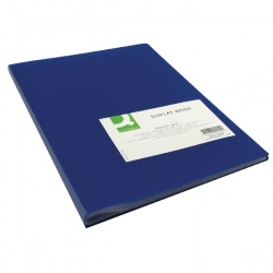 Q-Connect Display Book 40 Pocket Blue KF01259
