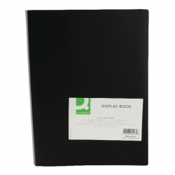 Q-Connect Display Book 40 Pocket Black KF01260