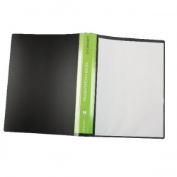Q-Connect Presentation Display Book 40 Pocket Black KF01267