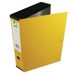Q-Connect Box Foolscap File 75mm Yellow (Pack of 5) 31819KIN0