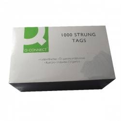 Strung Tag 120x60mm Blue (Pack of 1000) KF01625