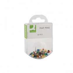 Q-Connect Assorted Map Pins (Pack of 600) KF02030Q