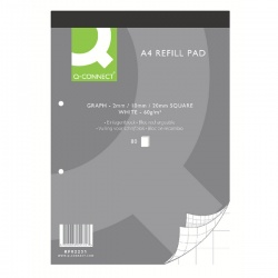 Q-Connect A4 Graph Refill Pad 80 Leaf (Pack of 10) KF02231