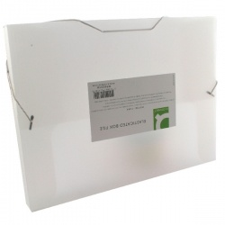 Q-Connect Elasticated Box File Clear KF02310