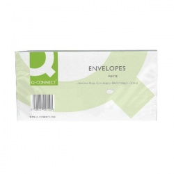 Q-Connect DL Envelopes Window 80gsm Self Seal White (Pack of 1000) KF02713