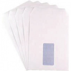 Q-Connect C5 Envelopes Window 90gsm Self Seal White (Pack of 500) KF02718
