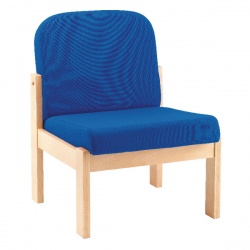 Arista Reception Seat Beech Veneer Blue