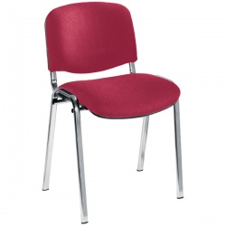 Jemini Ultra Claret/Chrome Stacking Chair KF03351
