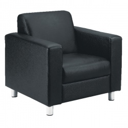 Avior Leather Faced Executive Reception Armchair Black KF03529