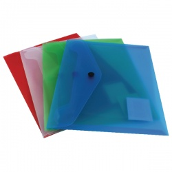 Q-Connect Document Folder Polypropylene A5 Assorted (Pack of 12) KF03609