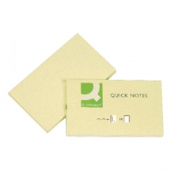 Q-Connect Repositionable Quick Notes 76 x 127mm Yellow (Pack of 12) KF10503