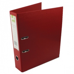 Q-Connect Lever Arch Foolscap File Polypropylene 70mm Red (Pack of 10) KF20027