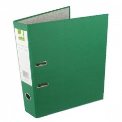 Q-Connect Green Foolscap Paperbacked Lever Arch File (pack of 10) KF20032