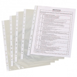 Q-Connect Punched Pocket A4 50 Micron Clear (Pack of 100) KF24001