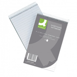 Q-Connect Shorthand Notebook Feint Ruled 203 x 127mm 300 Pages (Pack of 10) 31002