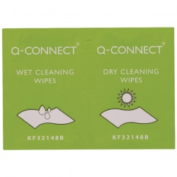 Q-Connect Wet and Dry Wipes (Pack of 20) KF32148