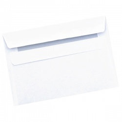 Q-Connect Envelope C6 90gsm Self Seal White (Pack of 1000) 7042