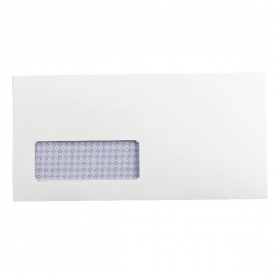 Q-Connect DL Envelopes Window 100gsm Self Seal Recycled White (Pack of 500) KF3505