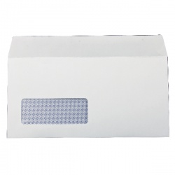 Q-Connect DL Envelopes Window 100gsm Self Seal White (Pack of 1000) 7138