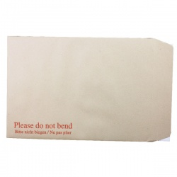 Q-Connect Board Back C4 Envelopes 115gsm Manilla Peel and Seal (Pack of 125) KF3521