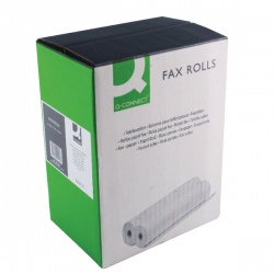 Q-Connect White Fax Roll 216mmx15mx12mm (Pack of 6) KF50108