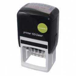 Q-Connect Custom Date Self-Inking Stamp 43 x 28mm KF71433