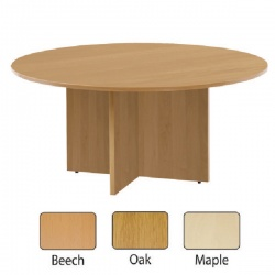 Jemini 1200mm Round Meeting Table Beech KF71952