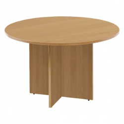 Jemini 1200mm Round Meeting Table Oak KF71953