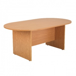 Arista 1800mm Rectangular Meeting Table Oak KF72040