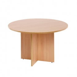 Arista 1200mm Round Meeting Table Beech KF72048