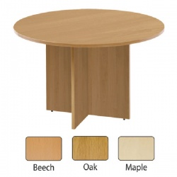 Arista 1200mm Round Meeting Table Maple KF72050