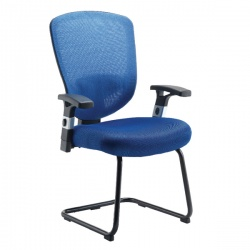 Arista Mesh Visitor Blue Chair  KF72244
