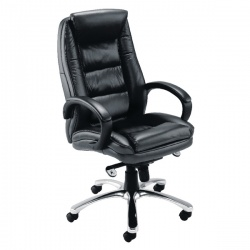 Avior Tuscany Contemporary Executive Leather Black Chair KF72583