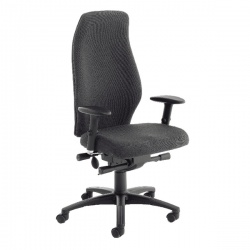 Avior Black Super Deluxe Extra High Back Posture Chair KF72589