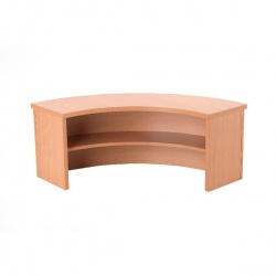 Jemini Intro Bavarian Beech Radial Reception Counter 800mm KF72597