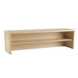 Jemini Intro 1600mm Reception Desk Riser Warm Maple KF73526