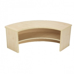 Jemini Intro 90 Degree Corner Desk Riser Warm Maple KF73527