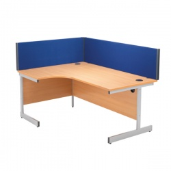 Jemini Straight Desk Screen 1600mm Blue KF73917
