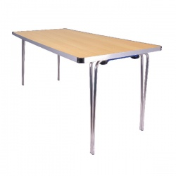 Jemini Aluminium Folding Table Rectangular Beech W1520xD685xH698mm KF74028