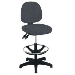 Arista Charcoal Adjustable Draughtsman Chair KF815148