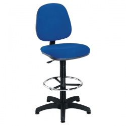 Jemini Blue Medium Back Draughtsman Chair KF838252