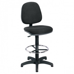Jemini Charcoal Medium Back Draughtsman Chair KF838253