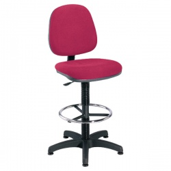 Jemini Claret Medium Back Draughtsman Chair KF838254